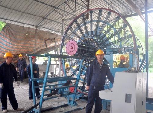 承插式钢筋混凝土排水管生产现场