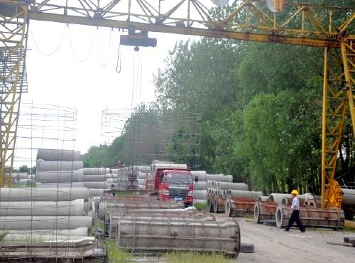 企口式钢筋混凝土排水管生产现场