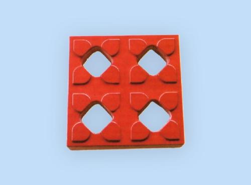 彩色平面四孔砖